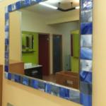 Espejo con decoración fusing