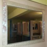 Espejo fusing rosa y blanco